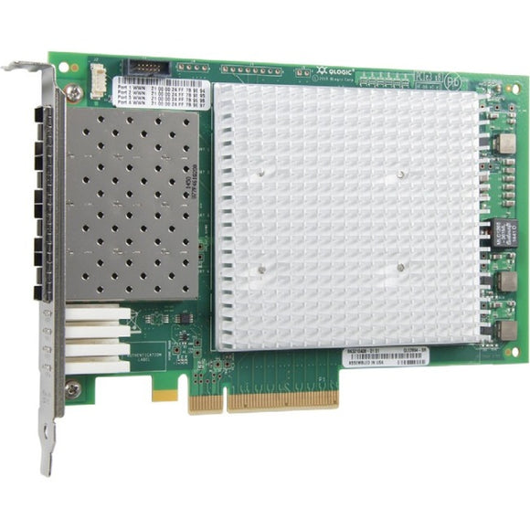 QLogic Enhanced Gen 5, Quad-Port, 16Gbps Fibre Channel-to-PCIe Adapter