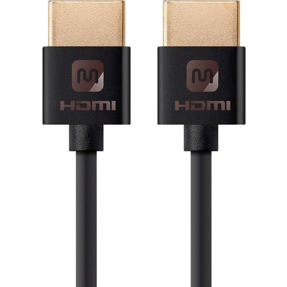Monoprice Ultra Slim Series High Speed HDMI Cable, 6ft Black