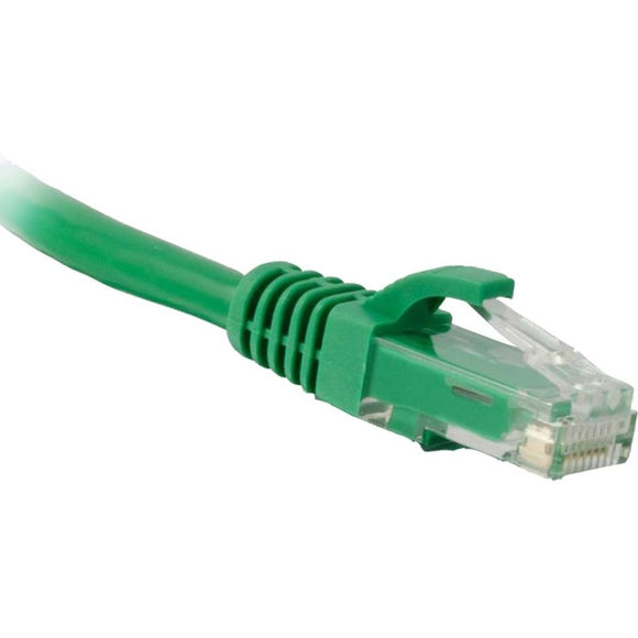 ENET Cat5e Green 1 Foot Patch Cable with Snagless Molded Boot (UTP) High-Quality Network Patch Cable RJ45 to RJ45 - 1Ft