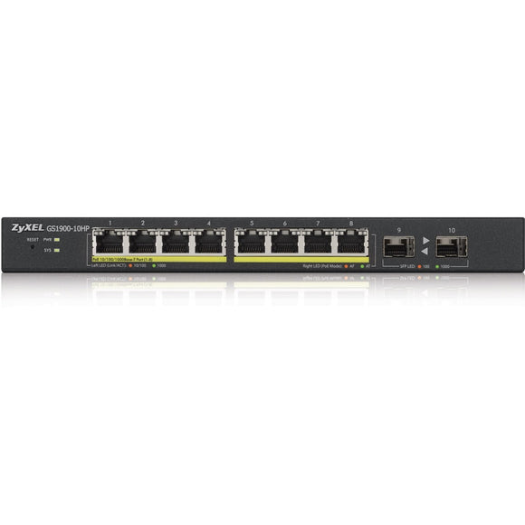 ZyXEL 8-Port GbE Smart Managed PoE Switch with GbE Uplink