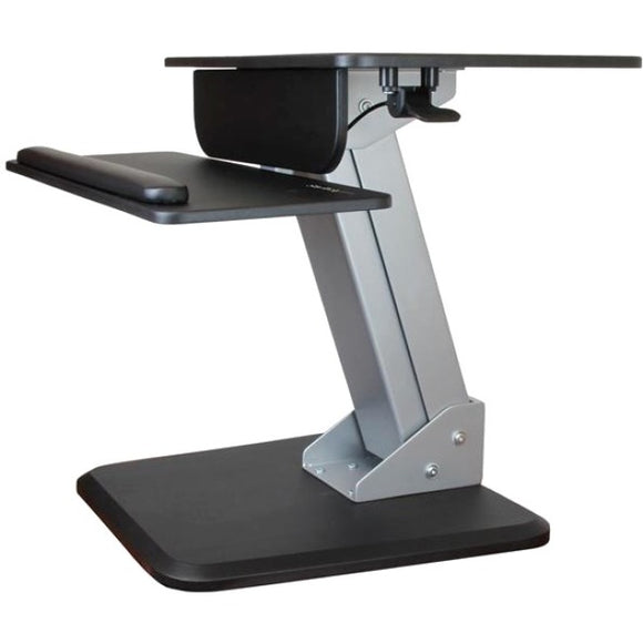 StarTech.com Height Adjustable Standing Desk Converter - Sit Stand Desk with One-finger Adjustment - Ergonomic Desk