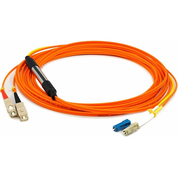 AddOn 2m LC (Male) to SC (Male) Orange OM1 & OS1 Duplex Fiber Mode Conditioning Cable