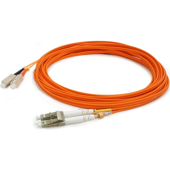 AddOn 15m HP 221691-B23 Compatible LC (Male) to SC (Male) Orange OM1 Duplex Fiber OFNR (Riser-Rated) Patch Cable