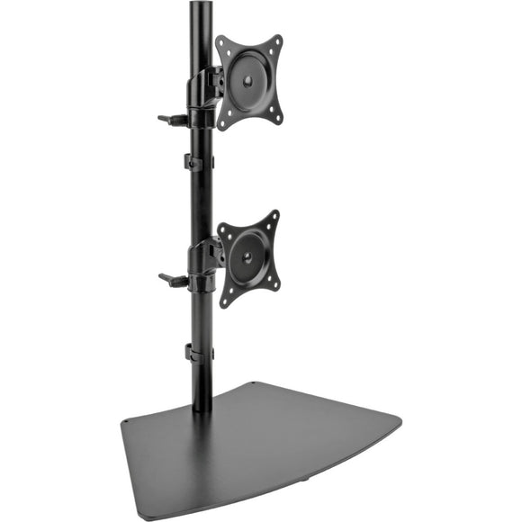Tripp Lite Dual Vertical Flat-Screen Desk Mount Monitor Stand Clamp Swivel Tilt 15