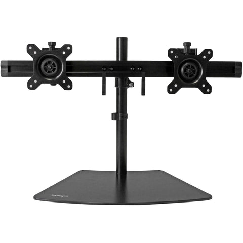 "StarTech.com Dual Monitor Stand - Crossbar - Supports Monitors up to 24"" - Vesa Mount - Adjustable Computer Monitor Arm"