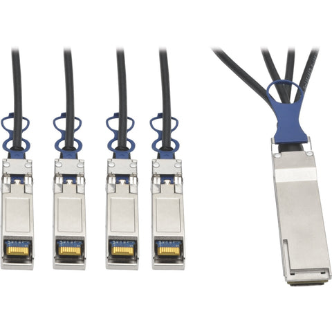 Tripp Lite 40GbE QSFP+ to 10GbE SFP+ Passive Copper Breakout Cable QSFP-4SFP10G Compatible 3M 10' ->  -> May Require Up to 5 Business Days to Ship -> May Require up to 5 Business Days to Ship