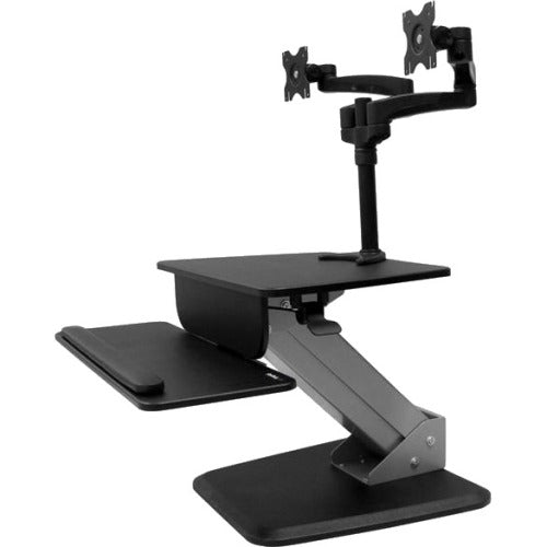 StarTech.com Dual Monitor Sit-to-stand Workstation - One-Touch Height Adjustment