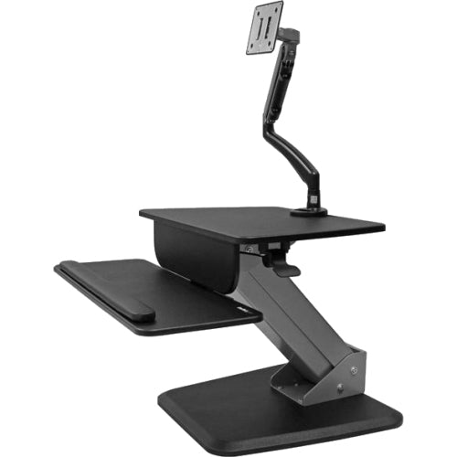 StarTech.com Sit-to-Stand Workstation with Full-Motion Articulating Monitor Arm - One-Touch Height Adjustment