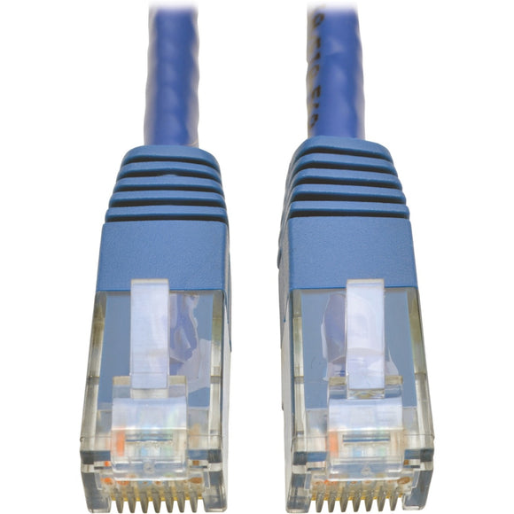 Tripp Lite Cat6 Gigabit Molded Patch Cable RJ45 M-M 550MHz 24 AWG Blue 100'