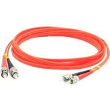 AddOn ADD-ST-ST-50M6MMF Fiber Optic Duplex Network Patch Cable