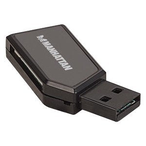 Manhattan Mini Hi-Speed USB 2.0 24-in-1 Multi-Card Reader-Writer