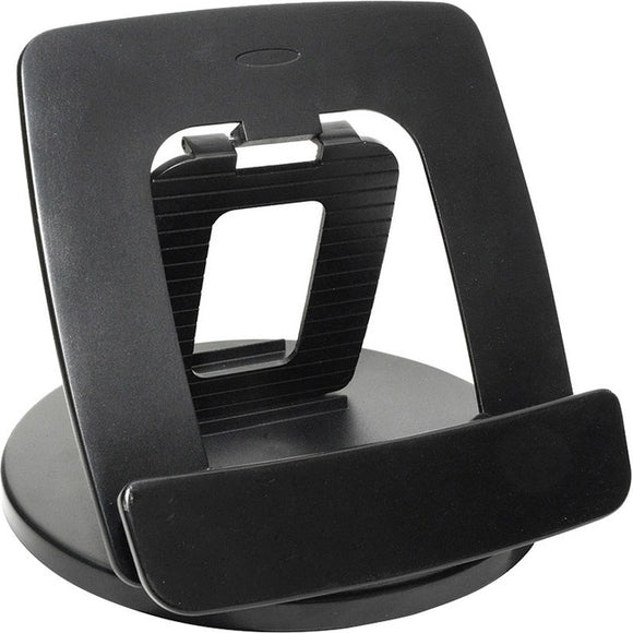 Kantek Rotating Foldable Desk Top Tablet Stand, Black
