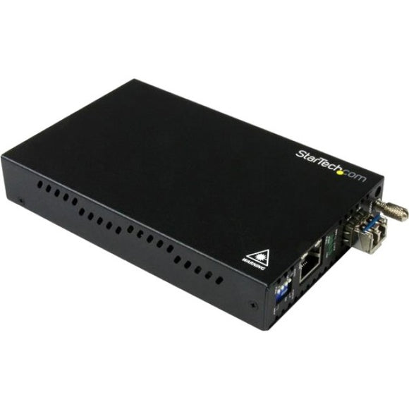 StarTech.com Gigabit Ethernet Copper-to-Fiber Media Converter - SM LC - 10 km - Ethernet Media Converter - GbE Converter