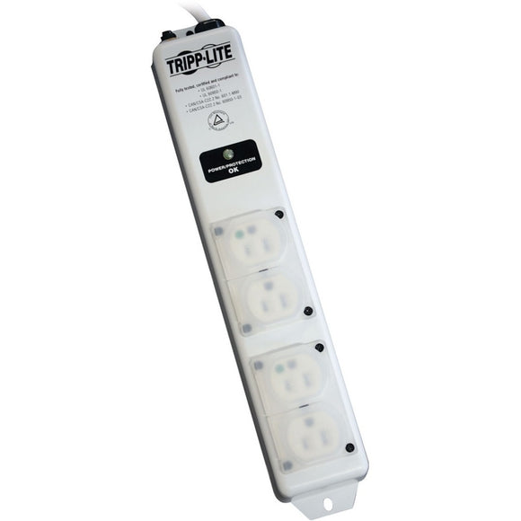 Tripp Lite Surge Protector Power Strip Hospital Medical 4 Outlet 6' Cord