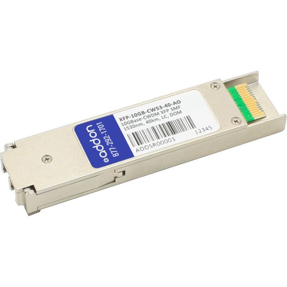 AddOn MSA and TAA Compliant 10GBase-CWDM XFP Transceiver (SMF, 1530nm, 40km, LC, DOM)