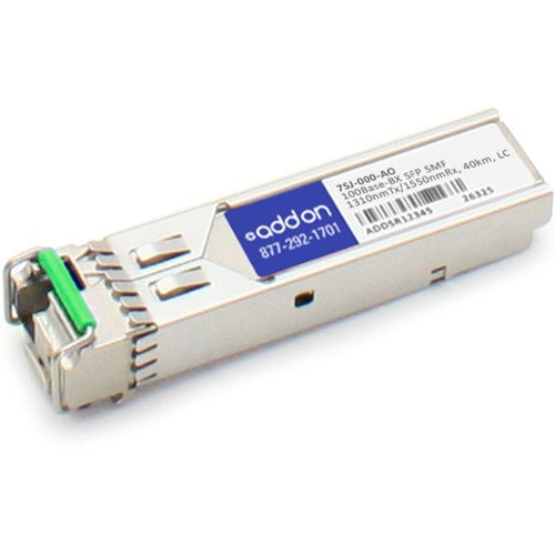AddOn Accedian 7SJ-000 Compatible TAA Compliant 100Base-BX SFP Transceiver (SMF, 1310nmTx-1550nmRx, 40km, LC)