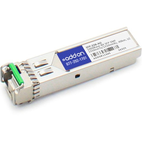 AddOn Rad SFP-23B Compatible TAA Compliant 1000Base-BX SFP Transceiver (SMF, 1550nmTx-1310nmRx, 40km, LC)
