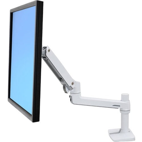Ergotron Lx Desk Mount Lcd Monitor Arm (white).mounts To A Desk To Free Up Space