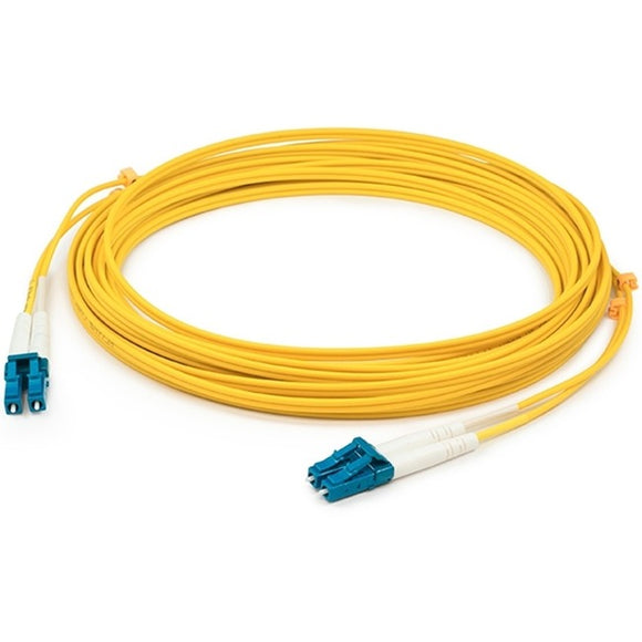 AddOn 0.15m LC (Male) to LC (Male) Yellow OS1 Duplex Riser-Rated Fiber Patch Cable