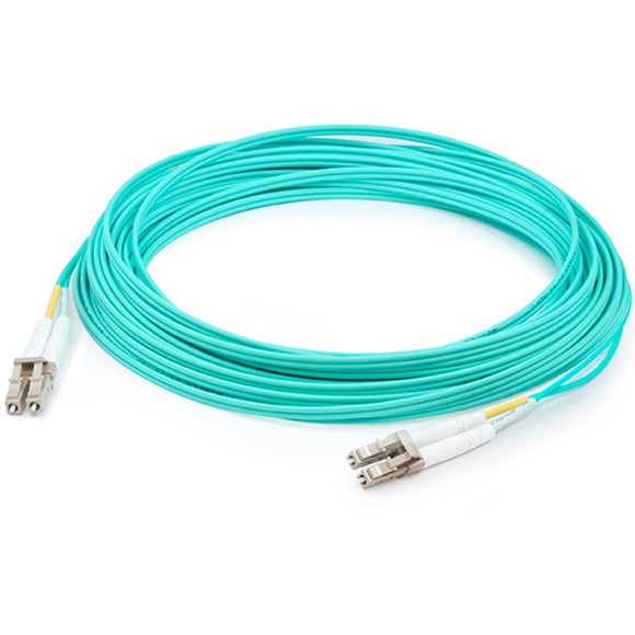 AddOn 75m LC (Male) to LC (Male) Aqua OM3 Duplex Fiber OFNR (Riser-Rated) Patch Cable
