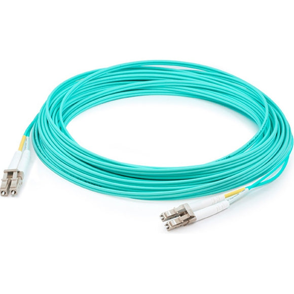 AddOn 85m LC (Male) to LC (Male) Aqua OM3 Duplex Fiber OFNR (Riser-Rated) Patch Cable