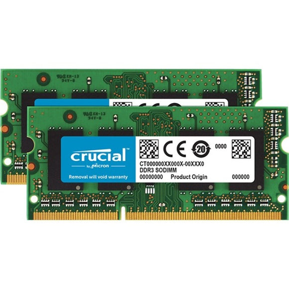 Micron Consumer Products Group Crucial 32gb Kit(2x16g)ddr3l-1600 Sodimm 2-16gb Ddr3l -1600 Sodimm 1.35v Cl11