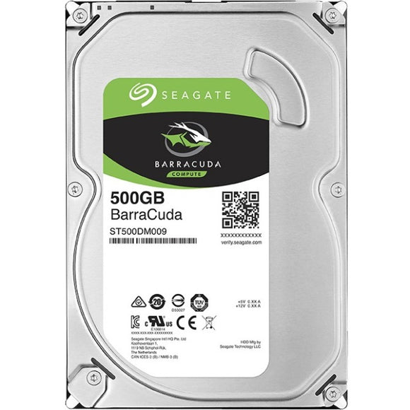 Seagate Barracuda ST500DM009 500 GB Hard Drive - SATA (SATA-600) - 3.5
