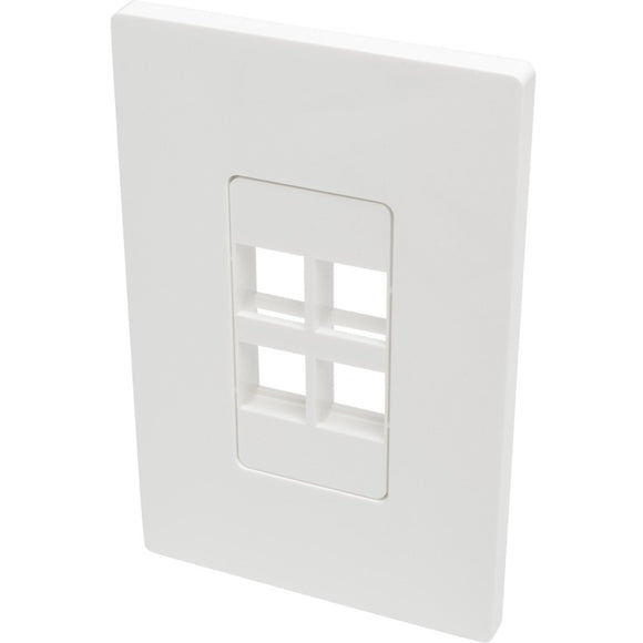 Tripp Lite Single-Gang 4-Port Wall Plate Keystone Cat5-6 USB HDMI Dport RCA