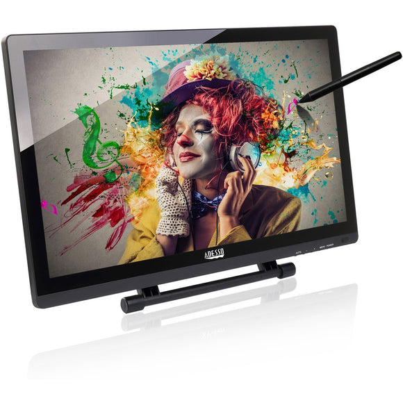 Adesso 21.5 Usb Hd Lcd Tablet Monitor, 1920 X1080 Screen Resolution ,2048 Levele