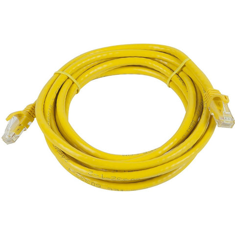 Monoprice FLEXboot Series Cat5e 24AWG UTP Ethernet Network Patch Cable, 20ft Yellow
