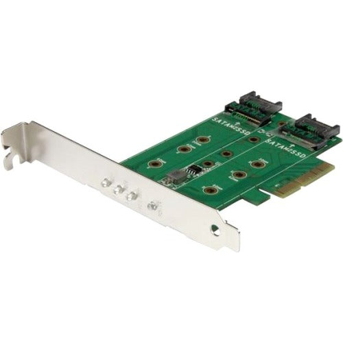 StarTech.com 3-Port M.2 SSD (NGFF) Adapter Card - 1 x PCIe (NVMe) M.2, 2 x SATA III M.2 - PCIe 3.0 - PCI Express 3.0 M.2 NGFF Card