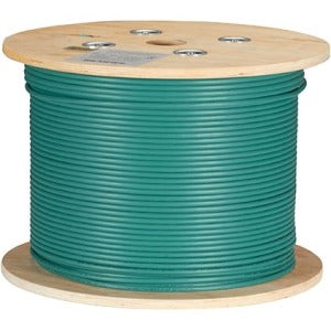 Black Box CAT6A 500-MHz Bulk Cable - F-UTP, Plenum, Solid, Green, 1000-ft.