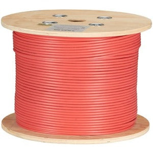 Black Box CAT6A 500-MHz Bulk Cable - F-UTP, Plenum, Solid, Red, 1000-ft.