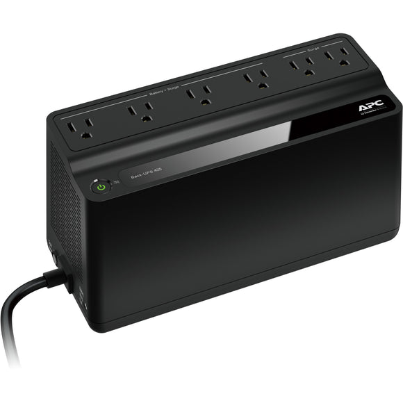 APC by Schneider Electric Back-UPS, 6 Outlets, 425VA, 120V