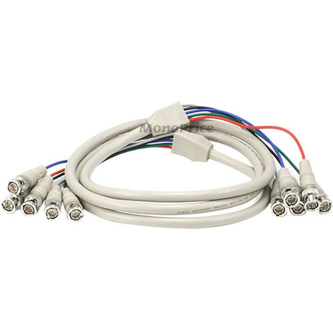 Monoprice 5BNC RGB to 5BNC RGB Video Cable, 6ft