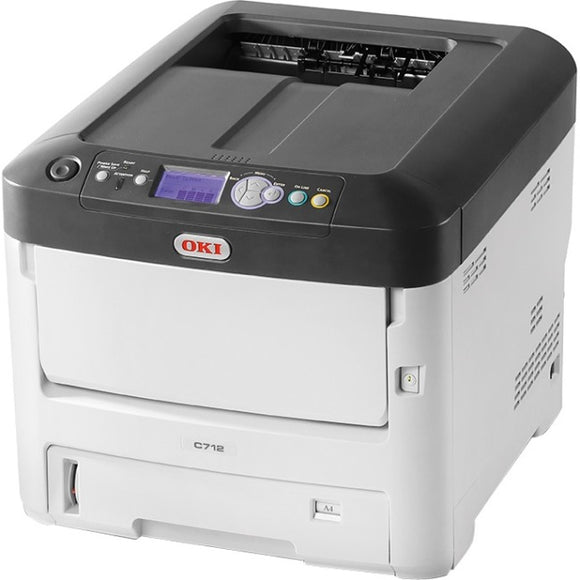 Oki C712dn LED Printer - Color - 1200 x 600 dpi Print - Plain Paper Print - Desktop