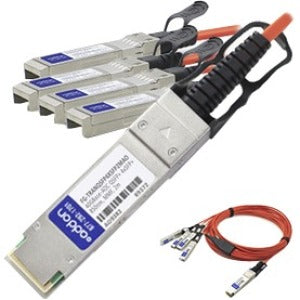AddOn Fortinet Compatible TAA Compliant 40GBase-AOC QSFP+ to 4xSFP+ Direct Attach Cable (850nm, MMF, 2m) - SystemsDirect.com