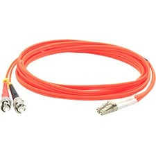 AddOn 40m LC (Male) to ST (Male) Orange OM3 Duplex Fiber OFNR (Riser-Rated) Patch Cable