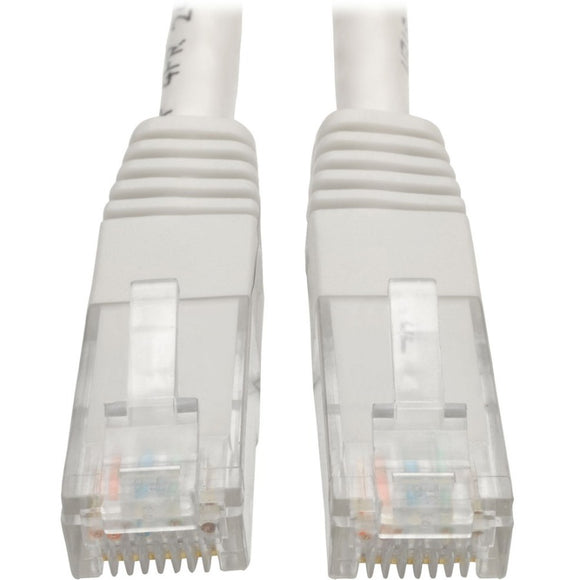 Tripp Lite 10ft Cat6 Gigabit Molded Patch Cable RJ45 M-M 550MHz 24AWG White