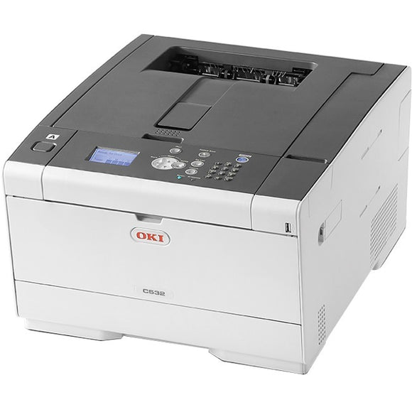Oki C532dn LED Printer - Color - 1200 x 1200 dpi Print - Plain Paper Print - Desktop