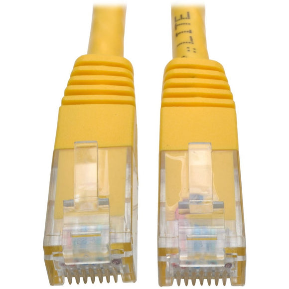 Tripp Lite 15ft Cat6 Gigabit Molded Patch Cable RJ45 MM 550MHz 24AWG Yellow
