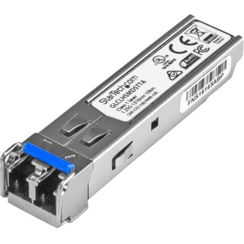 StarTech.com Cisco GLC-LH-SMD Compatible SFP Module - TAA - 1000BASE-LX-LH Fiber Optical SFP Transceiver - Lifetime Warranty - 1 Gbps - Maximum Transfer Distance: 10 km (6.2 mi)