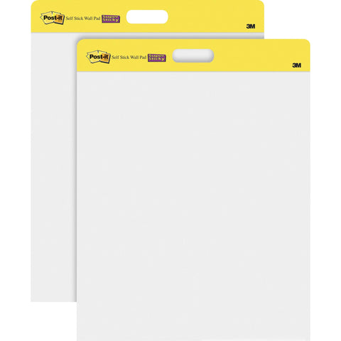 3m Mobile Interactive Solution Self-stick Wall Pad White 20 In X 23 In