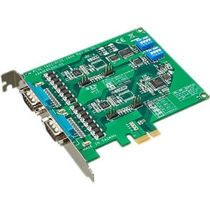 Advantech 2-port RS-232-422-485 PCI Express Communication Card w-Surge