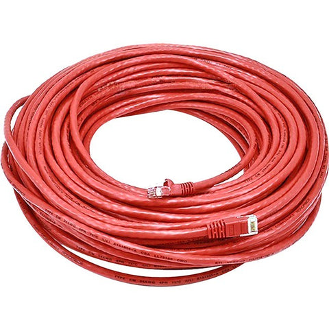 Monoprice Cat5e 24AWG UTP Ethernet Network Patch Cable, 100ft Red