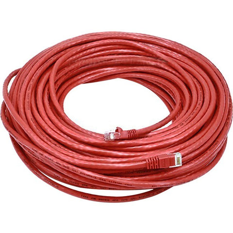 Monoprice Cat6 24AWG UTP Ethernet Network Patch Cable, 100ft Red