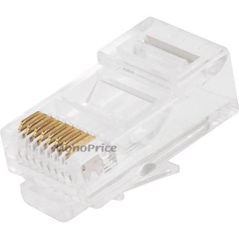 Monoprice RJ-45 Modular Plugs RJ45 - 100 Pack For Solid