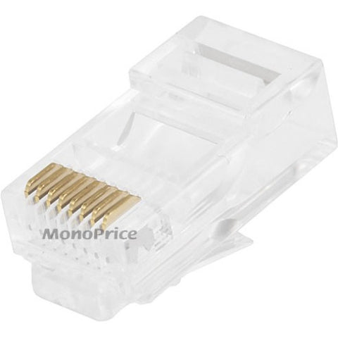 Monoprice RJ-45 Modular Plugs RJ45 - 100 Pack For Stranded Cable