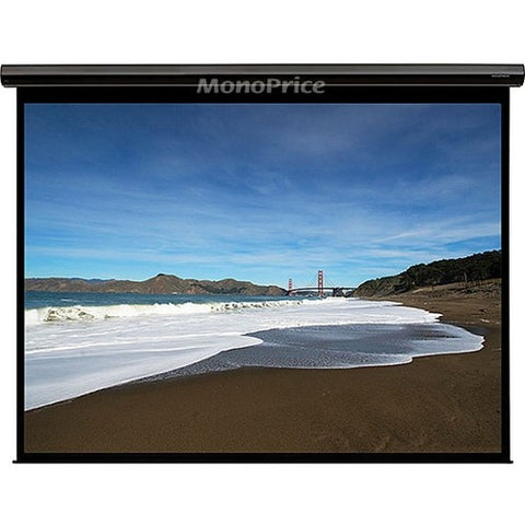 Monoprice, Inc. Matte White Fabric Motorized Proj Screen