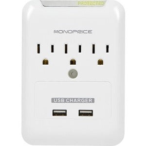 Monoprice, Inc. Power Surge Protector - 3 Outlet